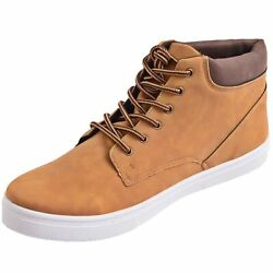 Alpine Swiss Keith Mens High Top Fashion Sneakers Casual Lace Up Shoes Boots $24.99