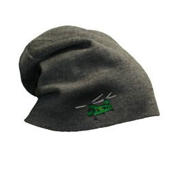 Slouchy Beanie for Men Helicopter A Embroidery Winter Hats Women Skull Cap $18.99
