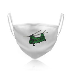 Cotton Washable Reusable Face Mask Helicopter A Fashion Covering Shield Airplane $14.99