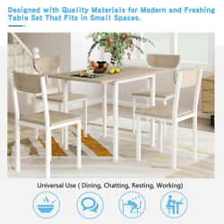 TOPMAX 5 Piece Dining Table Sets Metal 4 Chairs Kitchen Room Furniture Drop Leaf $216.89