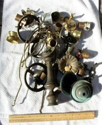 Lamp Chandelier parts vintage lot brass hanging wall ceiling etc. B $19.95