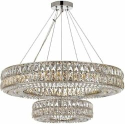 Crystal Nimbus Ring Chandelier Modern Contemporary Lighting Pendant 40quot; Wide $1218.88