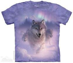 WOLVES quot;NORTHERN LIGHTSquot; ADULT T SHIRT THE MOUNTAIN $18.69