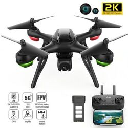 GPS WIFI FPV Drone With 2K HD Camera Foldable RC Drones Quadcopter For Kids Gift $369.99