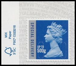 GB Machin Definitive Special Delivery 500g M20L paper tab single MNH 2020 $20.91