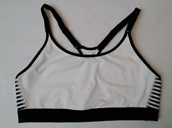 CHAMPION SPORTS BRA WOMENS SIZE 2XL Striped Black and White $17.99