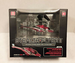 Stealth Flyer II Propel RC Micro Wireless Helicopter Multi Channel Red New $24.95