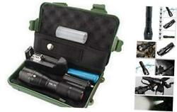 Led Bright Tactical Flashlight Rechargeable Flashlights Case 5000 High Lumens $41.75
