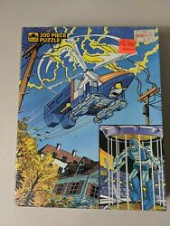 Go Bots Cop Tur Copter Helicopter 200 Piece Golden Puzzle Complete Tonka 1985 $9.99