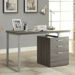 Contemporary Home Office Table Laptop Desk w Filing Cabinet 3 Drawer Storage $240.00