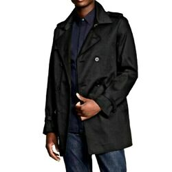 3.1 Phillip Lim for Target Mens Coat Size Large Double breasted Black Rain Pea $33.56