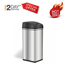 iTouchless 13 Gallon Stainless Steel Automatic Trash Can with Odor Absorbing Fil $48.87