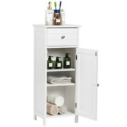Modest Style Capacious Wooden Tailored Floor Drawer and Shelf Cabinet Storage $108.68
