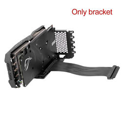 Stand Mount Vertical GPU Bracket With Flat Line Metal Graphics Card Holder $46.56