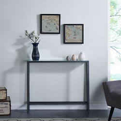 Elegant Mini Sofa Stand Console Table Contemporary Home Indoor Furniture Gray $170.00