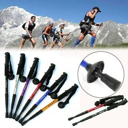 Anti Shock Nordic Walking Sticks Telescopic Trekking Hiking Poles Walking Canes^ $16.99