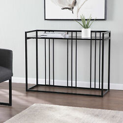 Modern Entryway Console Table Contemporary Home Indoor Furniture Glass Inspired $208.74
