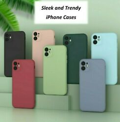 For iPhone 7 8 Plus X XS XR SE 11 Pro Max Shockproof Liquid Silicone Case Cover $7.95