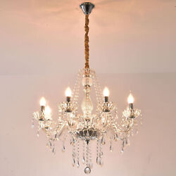 Samger 8 Arm Chandelier Crystal Glass Ceiling Light E12 Pendant Lamp Clear Color $86.99
