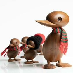 Duck Duckling Wooden Danish Nordic Desk Ornament Animal Figure Living Room Decor $28.22