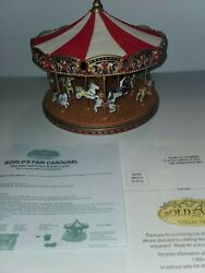 Mr. Christmas Gold Label Worlds Fair Carousel 30 Songs Musical Animated Lights $120.00