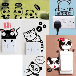 Removable Funny Cat Switch Sticker Black Art Decal Wall Poster Vinyl Home Decor