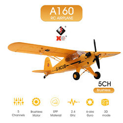 A160 RC Plane 5CH Brushless Remote Control 6G Airplane for Adults Stunt Yellow $100.88