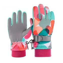 Winter Ski Gloves Kids Boys Girls Snow Windproof Warm Outdoor Sports For Womens $12.99