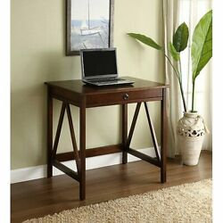 Elegant Writing Computer Desk Contemporary Home Indoor Furniture Rustic Inspired $144.62