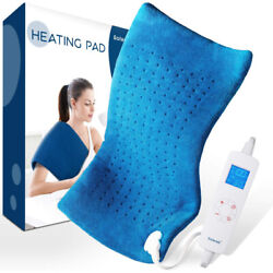 Extra Large Electric Heating Pad For Back Shoulders Neck Moist Dry Heat Therapy $25.98