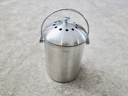 UTOPIA STAINLESS STEEL KITCHEN COMPOST CAN WITH EXTRA CHARCOAL FILTERS $16.95