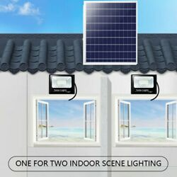6W Solar Powered Outdoor Remote Control Security Light Street Flood Lights IP65 $53.06