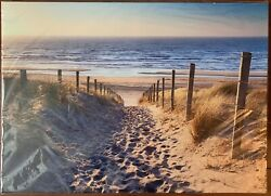 canvas wall art For Wall Home Decor Beach Path Relax with frame 353 $5.00