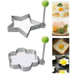 Stainless Steel Egg Shaper Omelette Mold Mould Frying Egg Cooking Tools Kitchen $2.99