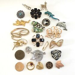 Lot of 24 Vintage Modern Brooches $26.99