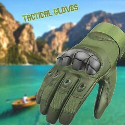 Motorcycle Tactical Protective Gloves Leather Touchscreen Full Fingers Mittens $27.99