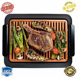 Electric Indoor Grill Nonstick Portable Dishwasher Metal Utensil Safe Surface $48.69