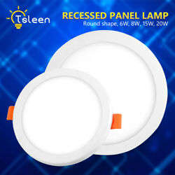 Round Recessed Ceiling Lamp LED Panel Down Lights For Indoor Commercial Use 326 $10.47