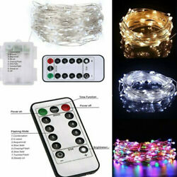 Twinkle LED Fairy String Lights Battery Bedroom Christmas Tree With Remote Timer $10.59