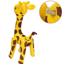 Children Deer Shaped PVC Novelty Animals Inflatable Toy Giraffe Design Large $8.59