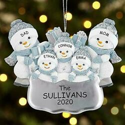 Pretty Snowman Christmas Tree Hanging DIY Name Holiday Home Best Party S3F6 $3.81