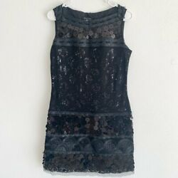 Etcetera black sequin dress