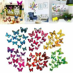 12Pcs 3D Butterfly Sticker Removable Mural Art Decals Wall Room Home Decor DIY $5.79