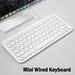 Mini Wired Keyboard Round Button Ergonomics Gaming For Macbook Lenovo Dell Asus $34.99