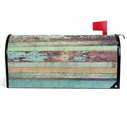 Old Wooden Mailbox Covers Magnetic Vintage Wood Texture 18quot; X 21quot; Old Wooden $26.49