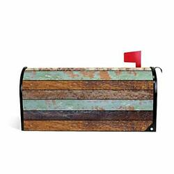Magnetic Mailbox Covers Old Wooden Standard Size 20.7quot;x 18.03quot; Multi02 $26.49