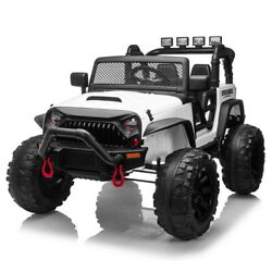 12V Electric Kids Ride on Car Toys Truck LED MP3 Player w Remote Control White $207.66