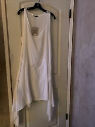BRAND NEW WHITE SUMMER BEACH DRESS COVER UP RESORT WEAR by MADE IN ITALY S $9.00