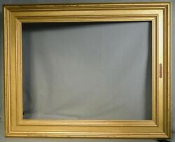 Vintage Modern Gold Distressed Casetta Esque Picture Frame 19x25 1960s Grungy $69.00