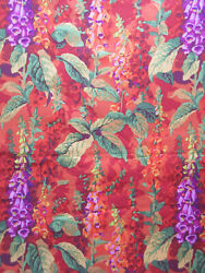 PHILIP JACOBS Fox Gloves in orange OOP NEW rare by the fat quarter $19.25